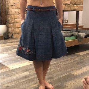 Super cute!Brand new IVKO wool skirt